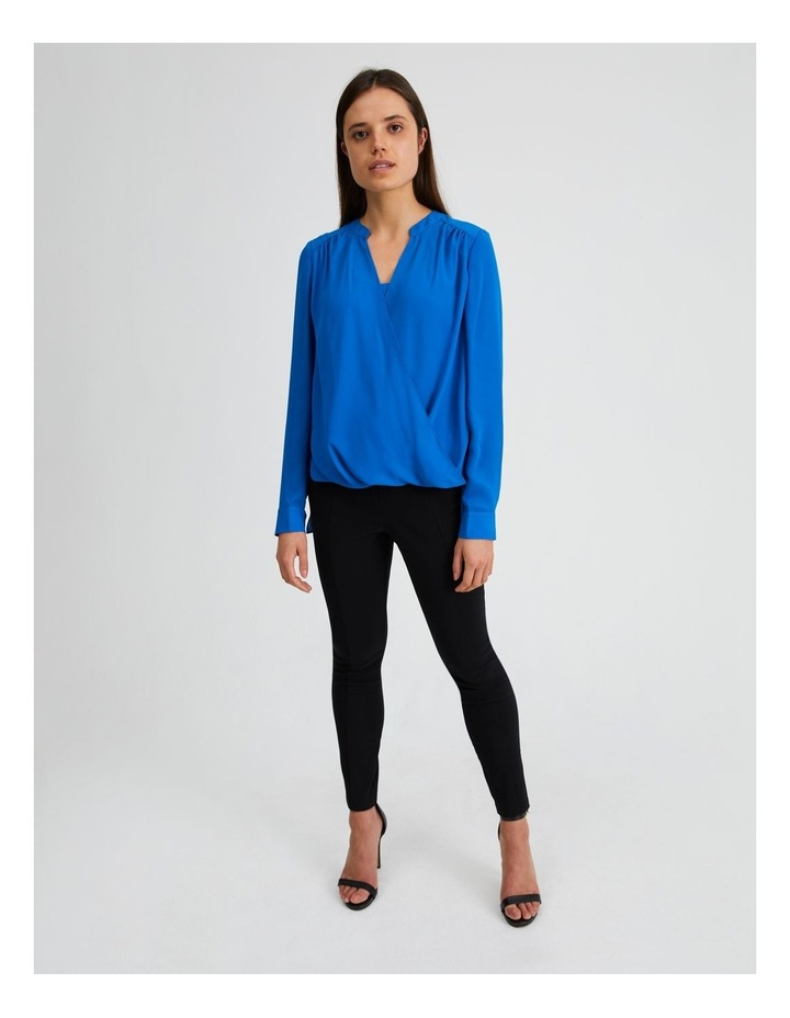 Long Sleeve Wrap Front Blouse image 4