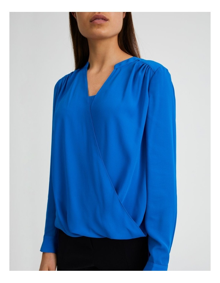 Long Sleeve Wrap Front Blouse image 5