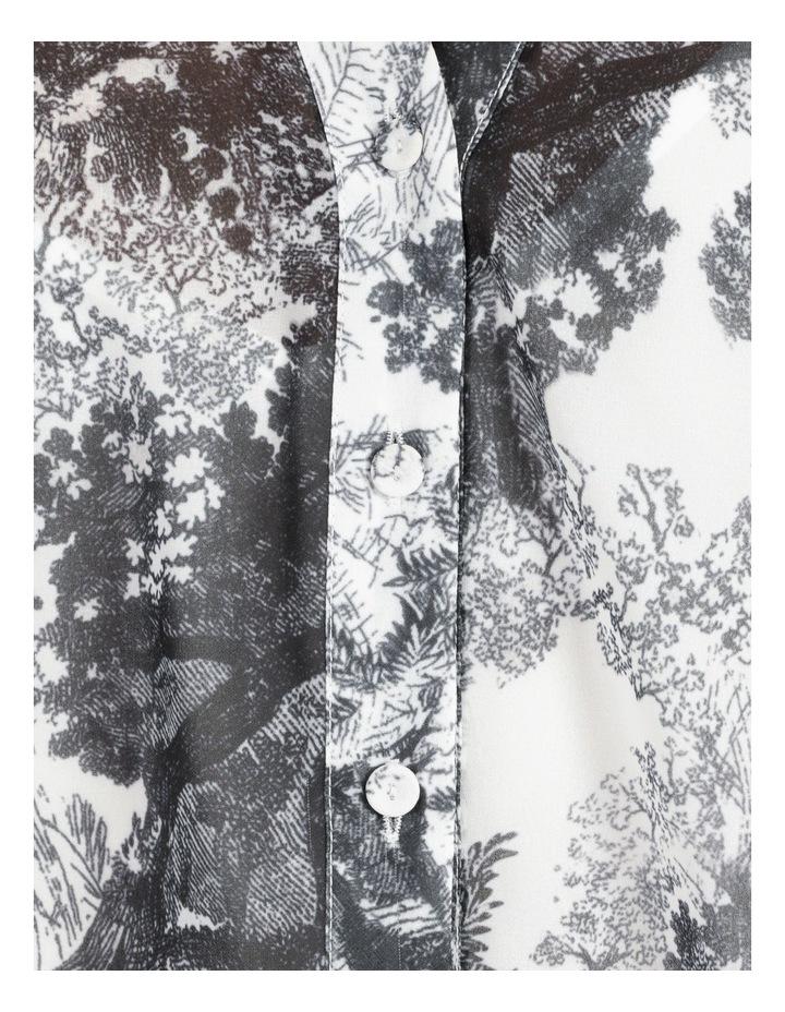 Oversized Batwing Shirt Grey/ White Print image 7