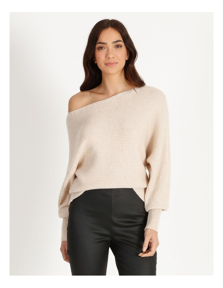 Off Shoulder Rib Knit image 1