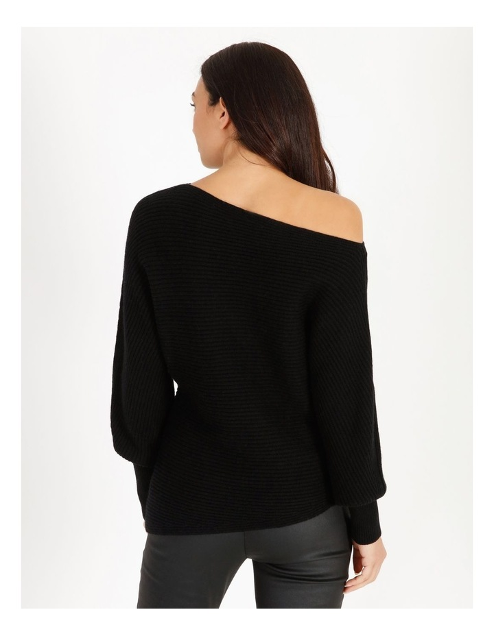 Off Shoulder Rib Knit image 4