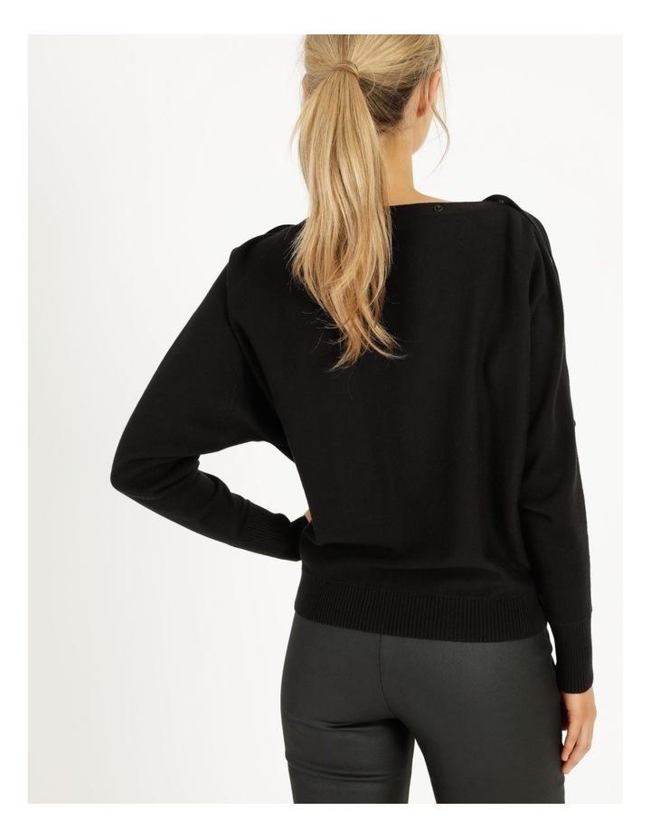 Drop Shoulder Long Sleeve Top Black image 6
