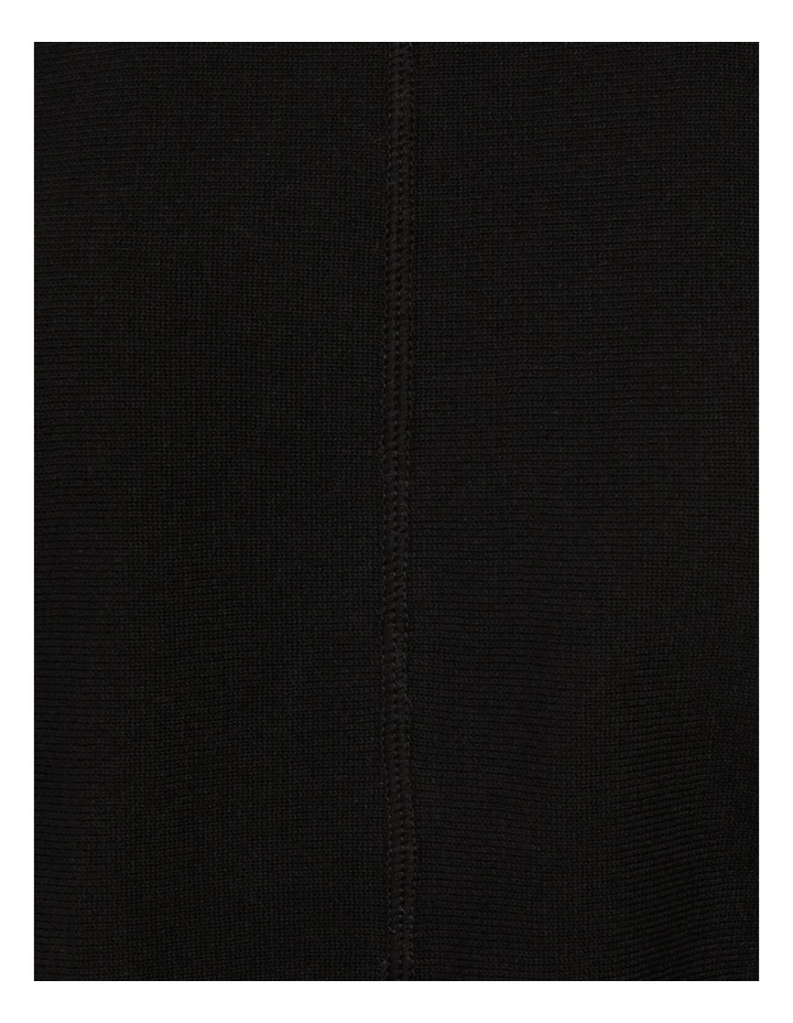 Drop Shoulder Long Sleeve Top Black image 7