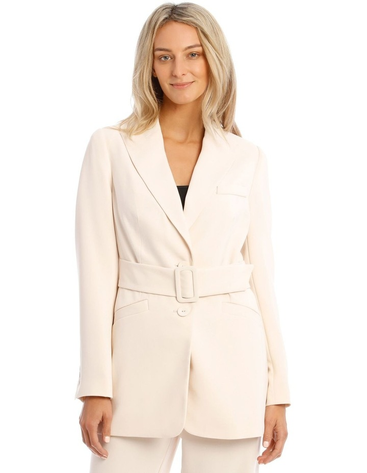 Cream Belted Jacket image 1