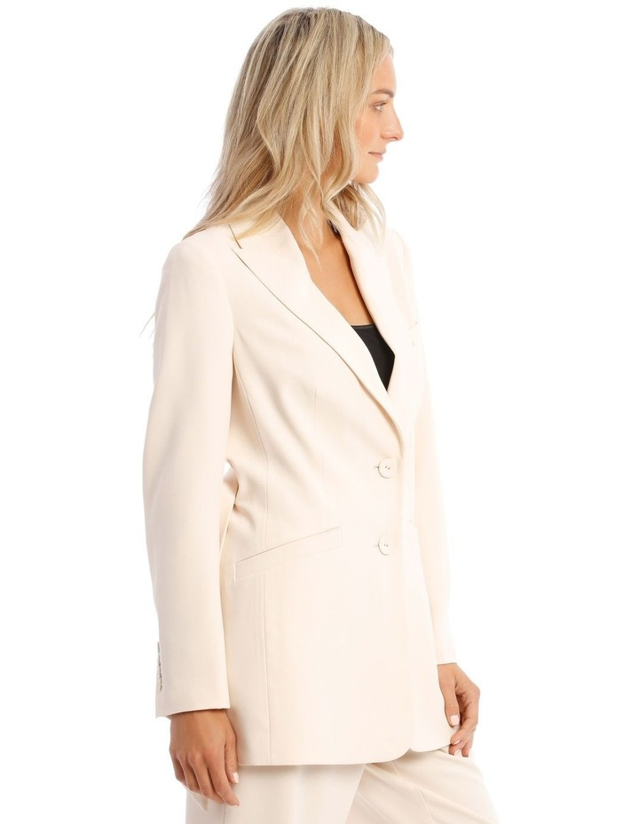 Cream Belted Jacket image 2