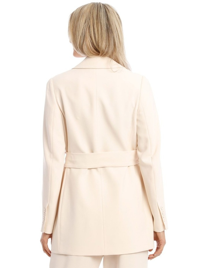 Cream Belted Jacket image 3