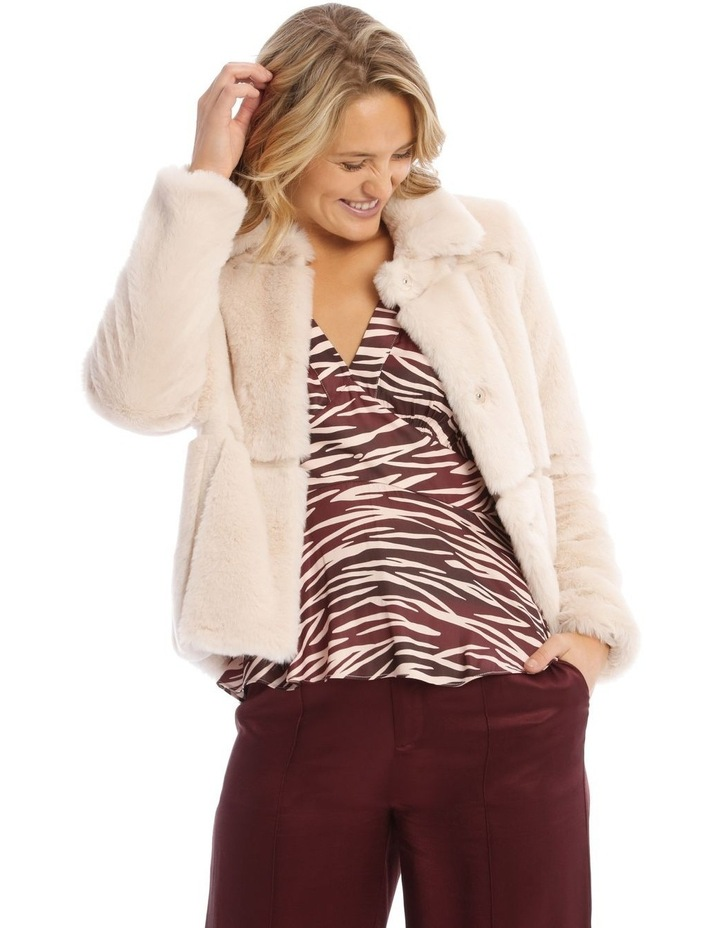 Quilted Fur Jacket image 1