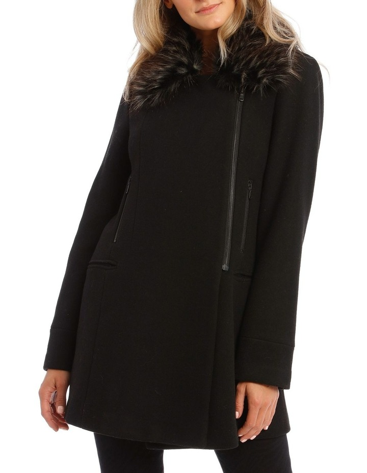 Coat Essential With Zips And Faux Fur Collar image 1