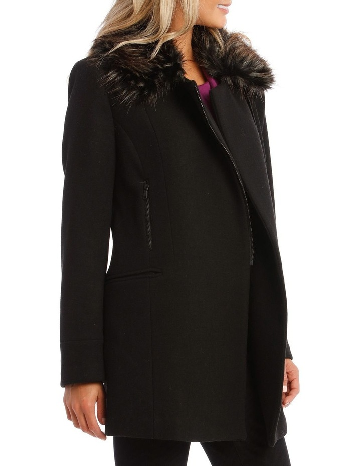 Coat Essential With Zips And Faux Fur Collar image 3