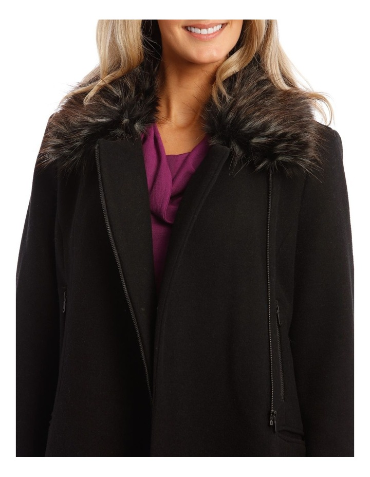 Coat Essential With Zips And Faux Fur Collar image 4