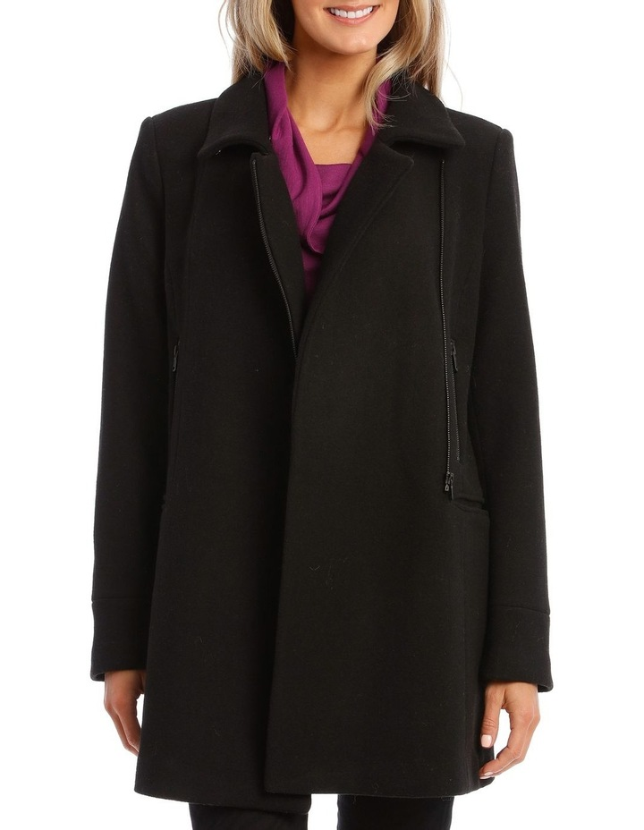 Coat Essential With Zips And Faux Fur Collar image 5
