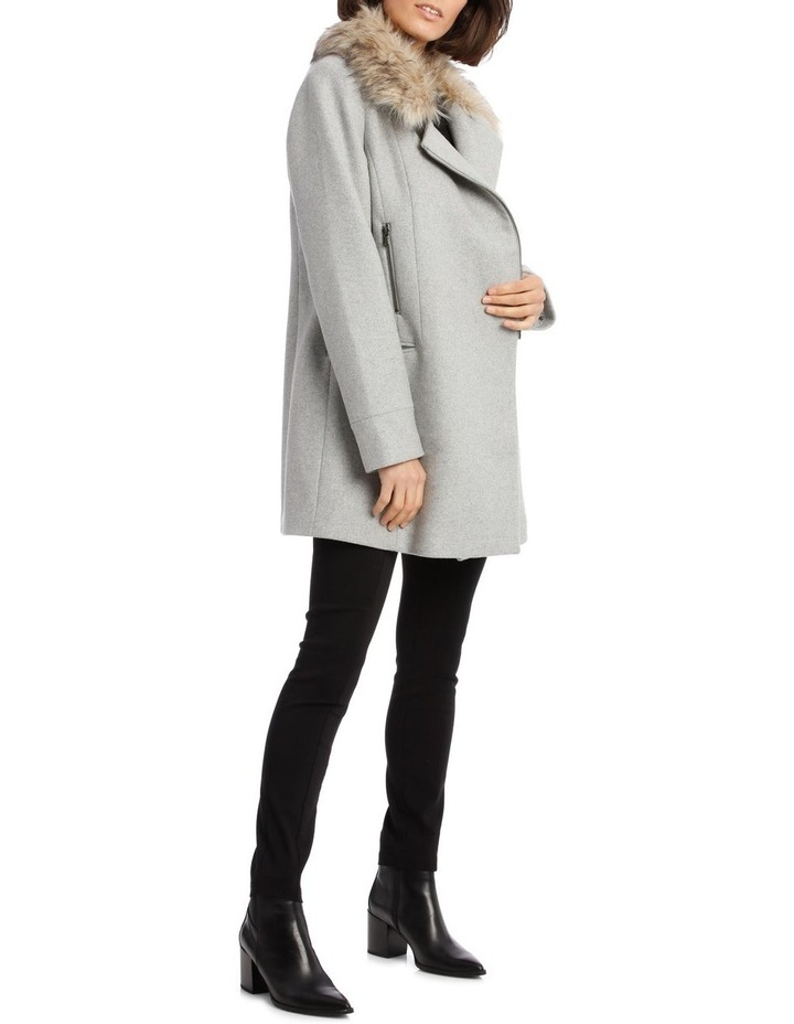 Essential Coat With Zips And Faux Fur Collar image 2