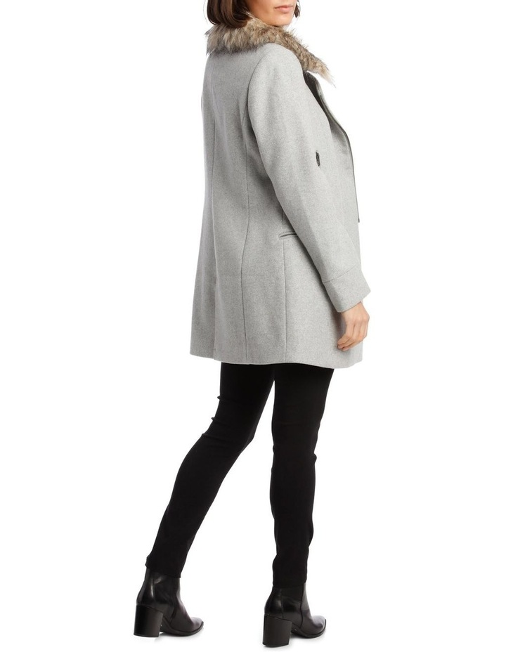 Essential Coat With Zips And Faux Fur Collar image 3