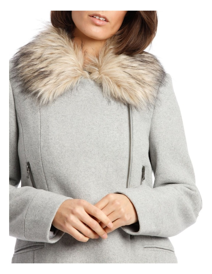 Essential Coat With Zips And Faux Fur Collar image 5