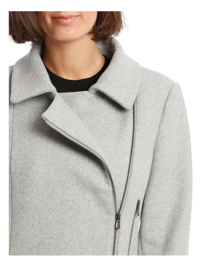 Essential Coat With Zips And Faux Fur Collar image 6