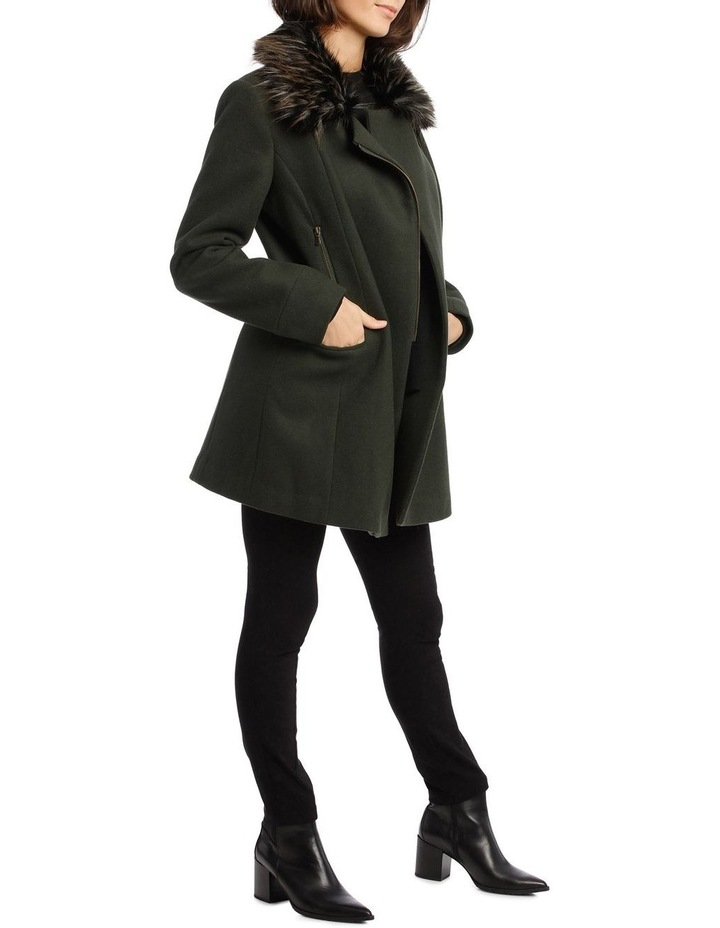 Coat Essential With Zips And Faux Fur Collar image 2