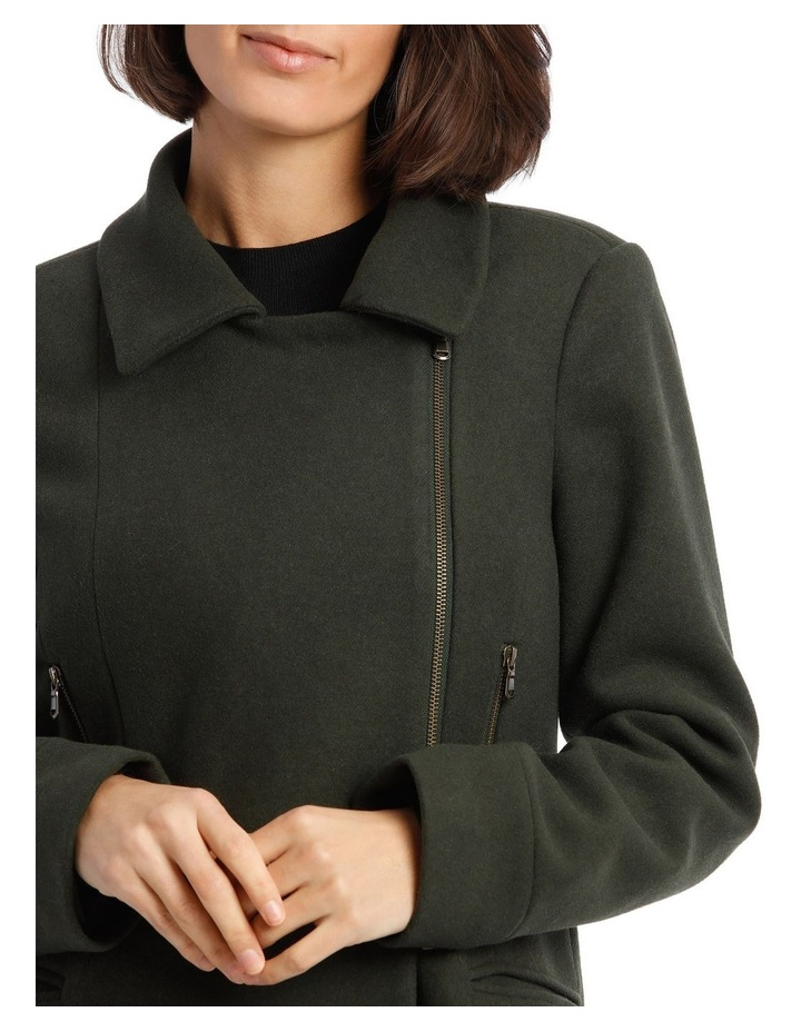 Coat Essential With Zips And Faux Fur Collar image 6