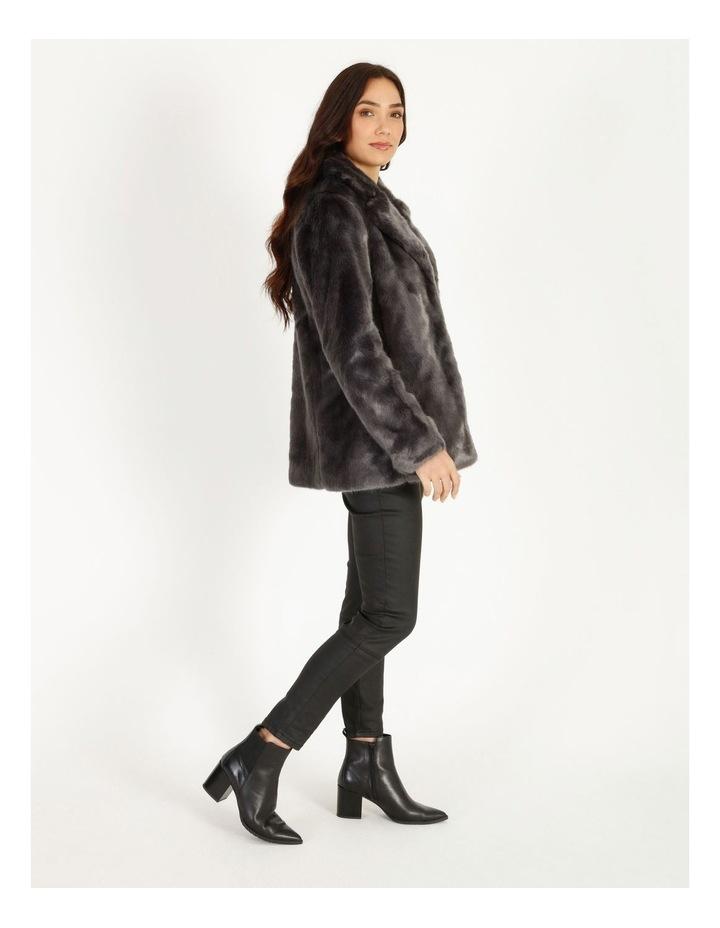 Grey Fur Coat image 3