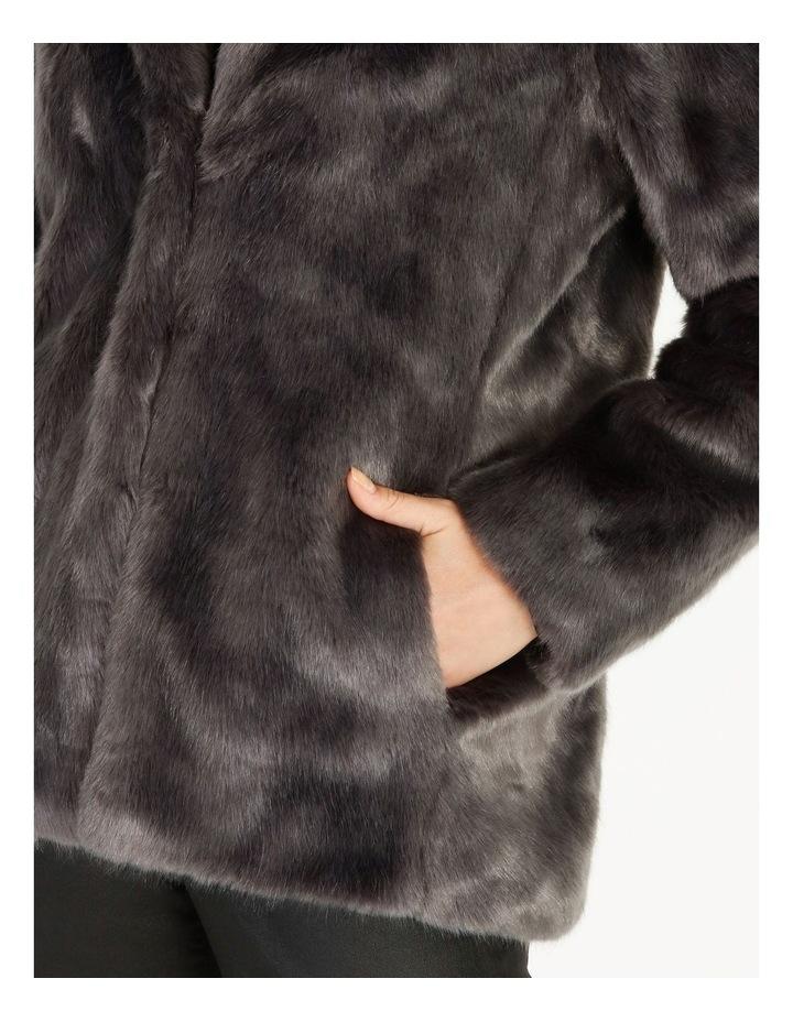 Grey Fur Coat image 5