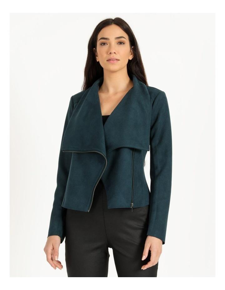 Suedette Drape Front Jacket image 1