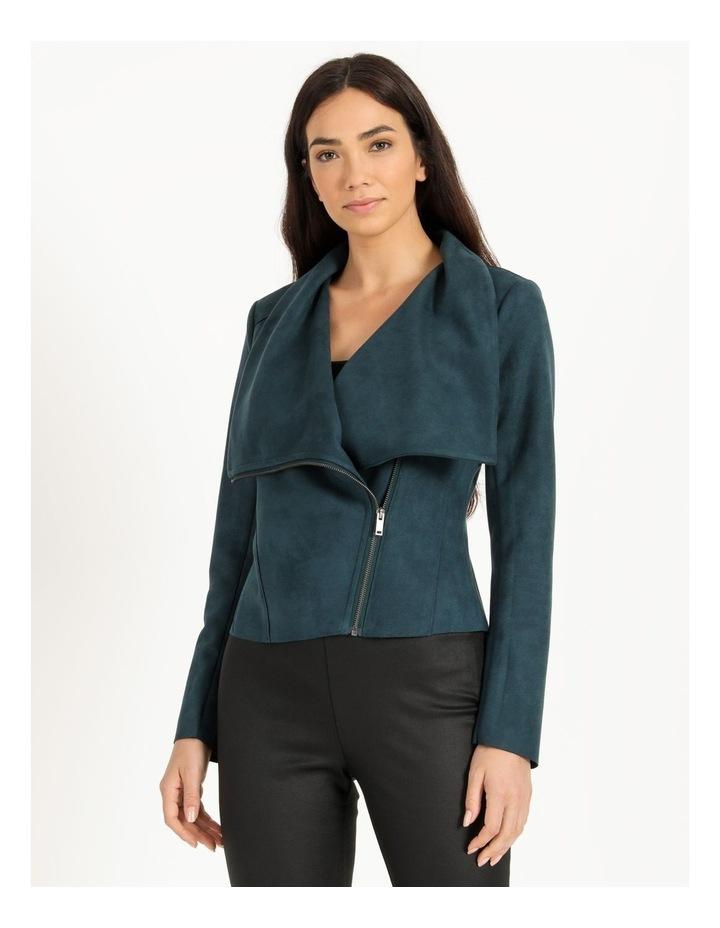 Suedette Drape Front Jacket image 4