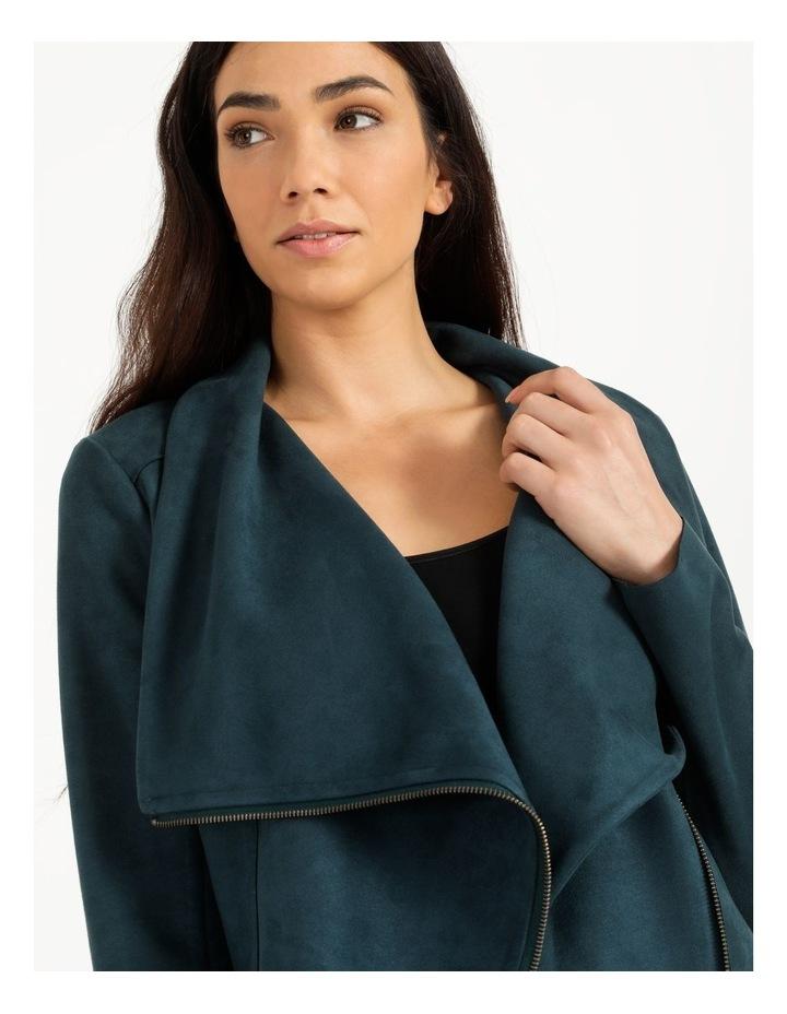 Suedette Drape Front Jacket image 5