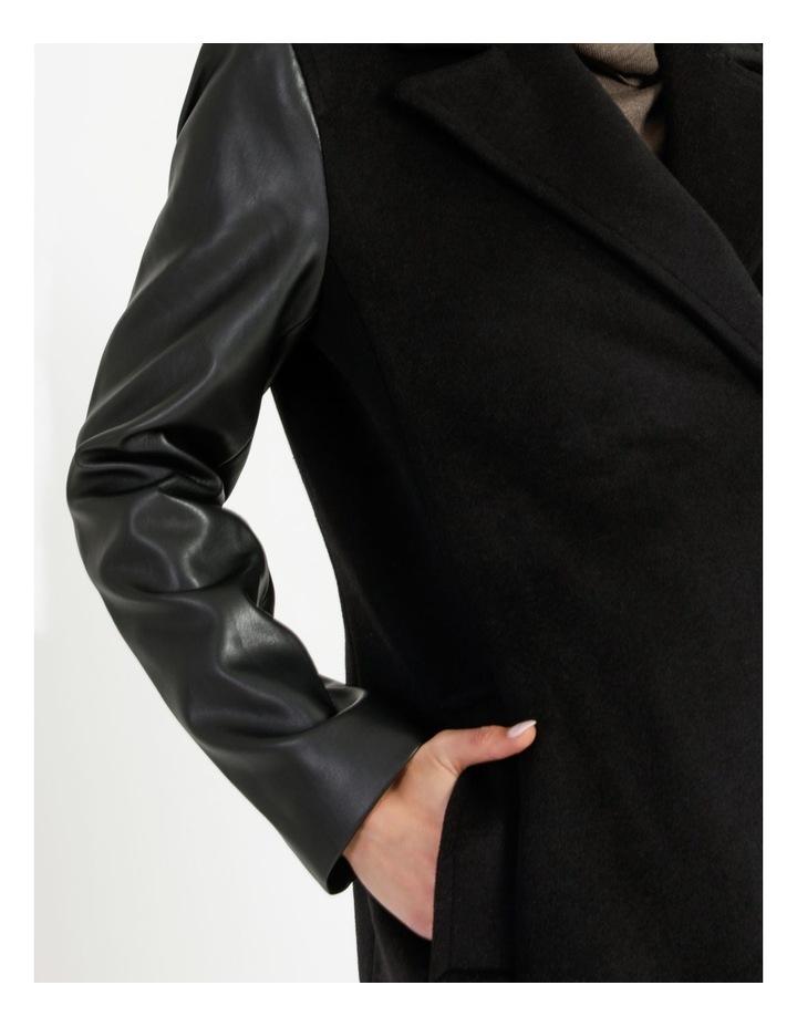 Pu Sleeve Coat image 5