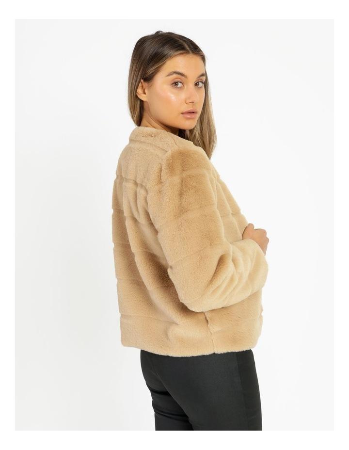 Collarless Fur Jacket image 3