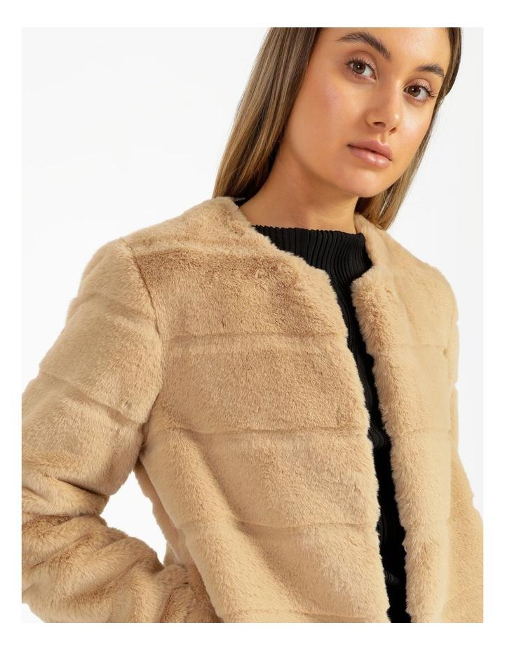 Collarless Fur Jacket image 4