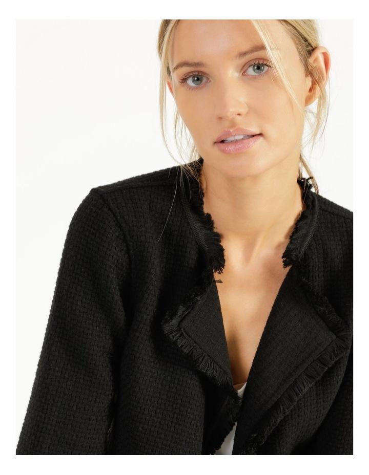 Fringe Edge Black Blazer Jacket image 2
