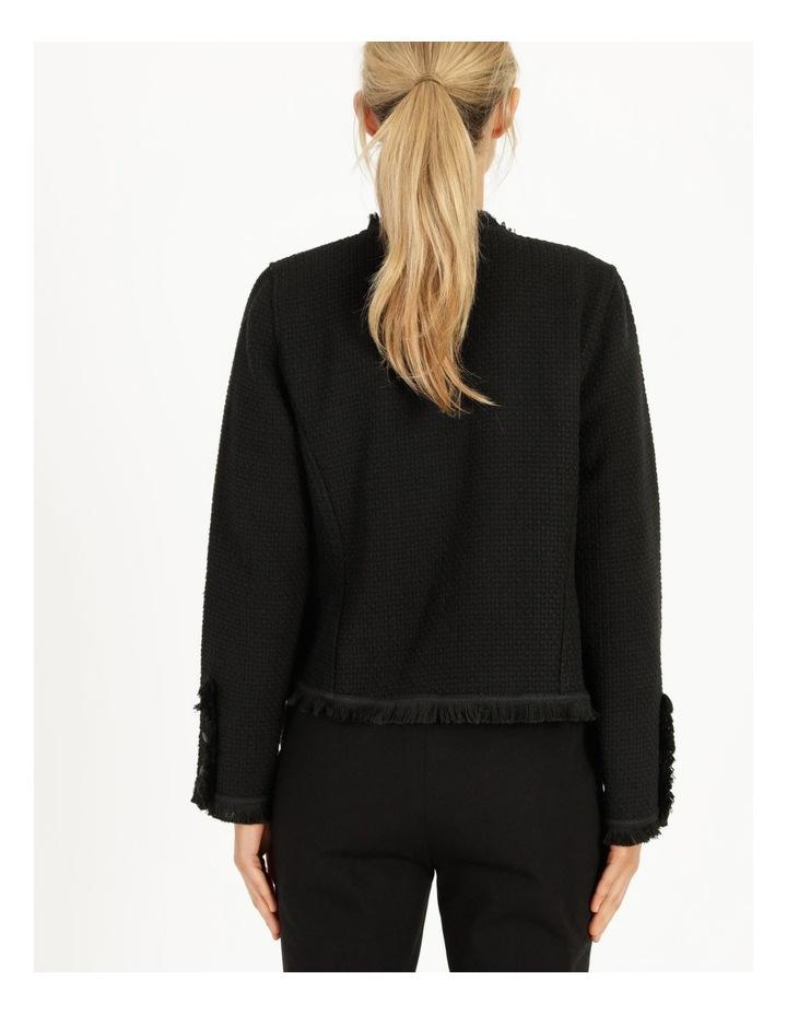 Fringe Edge Black Blazer Jacket image 4