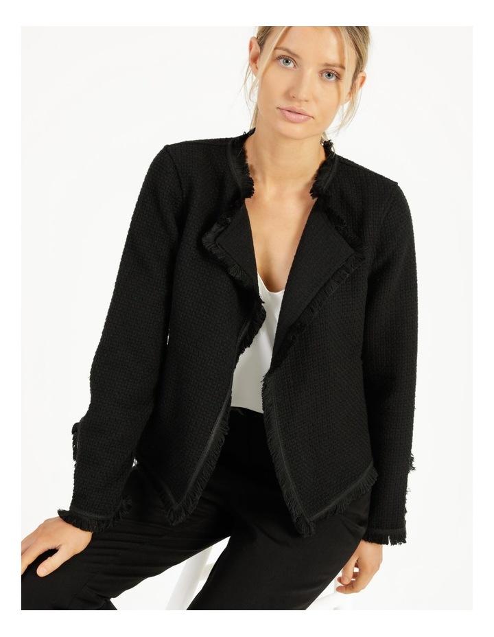 Fringe Edge Black Blazer Jacket image 5