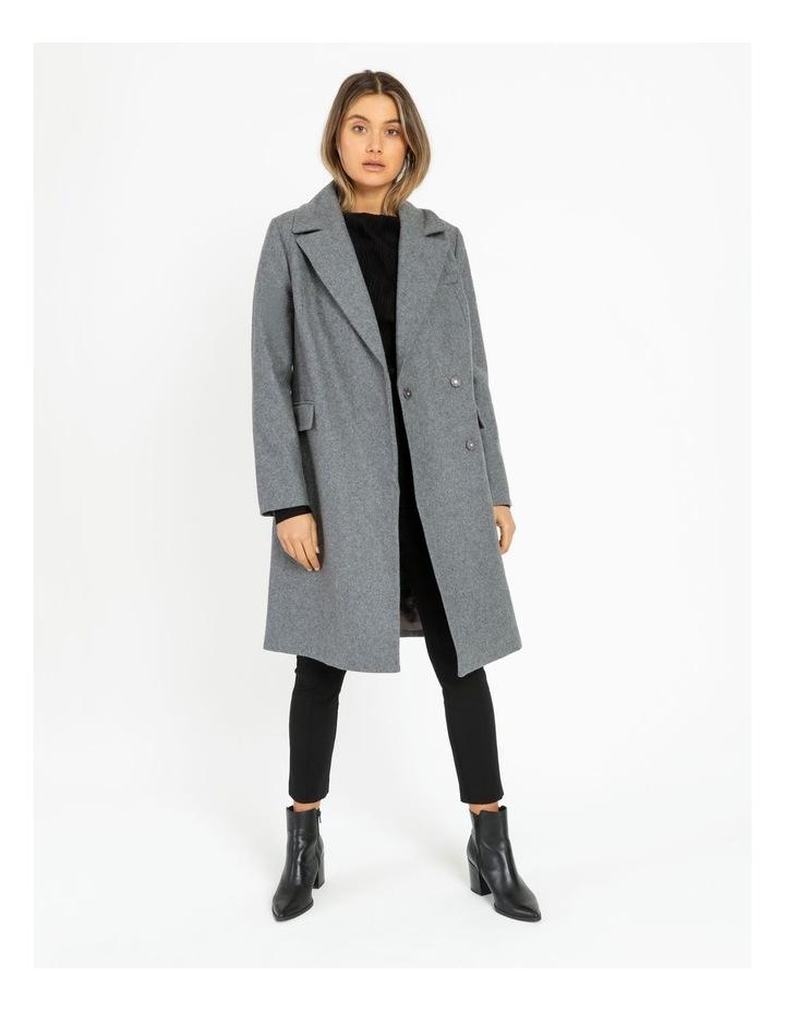 Fur Collar Coat Grey Marle image 2