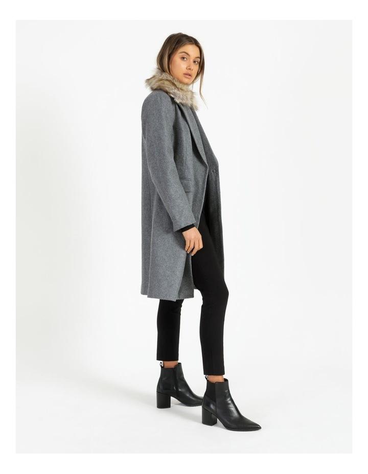 Fur Collar Coat Grey Marle image 3