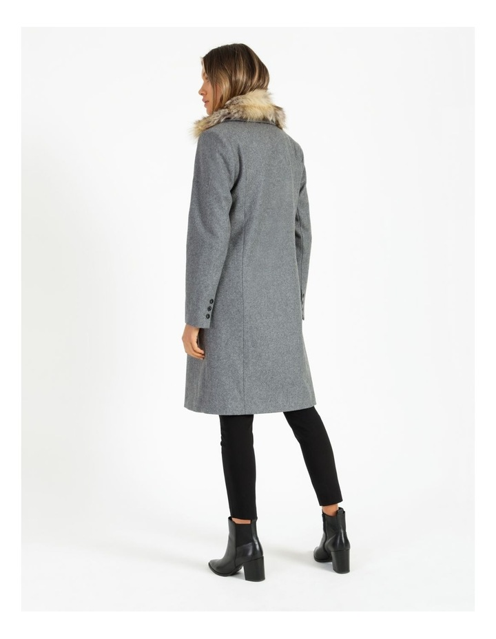 Fur Collar Coat Grey Marle image 4