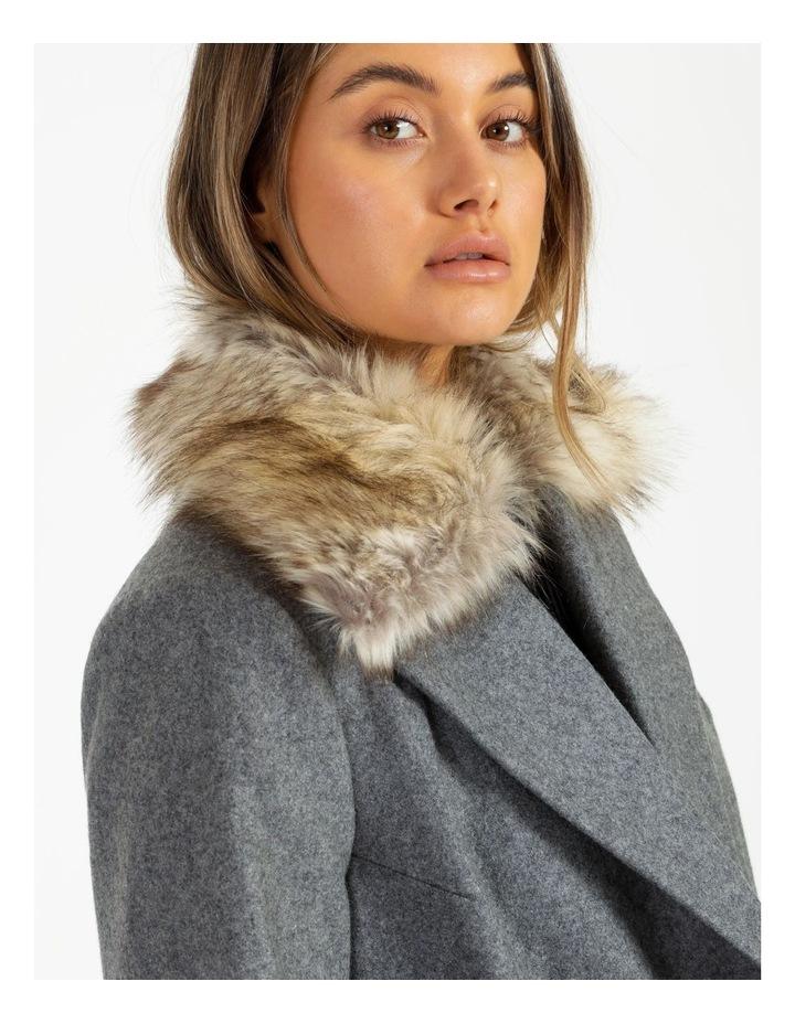Fur Collar Coat Grey Marle image 6