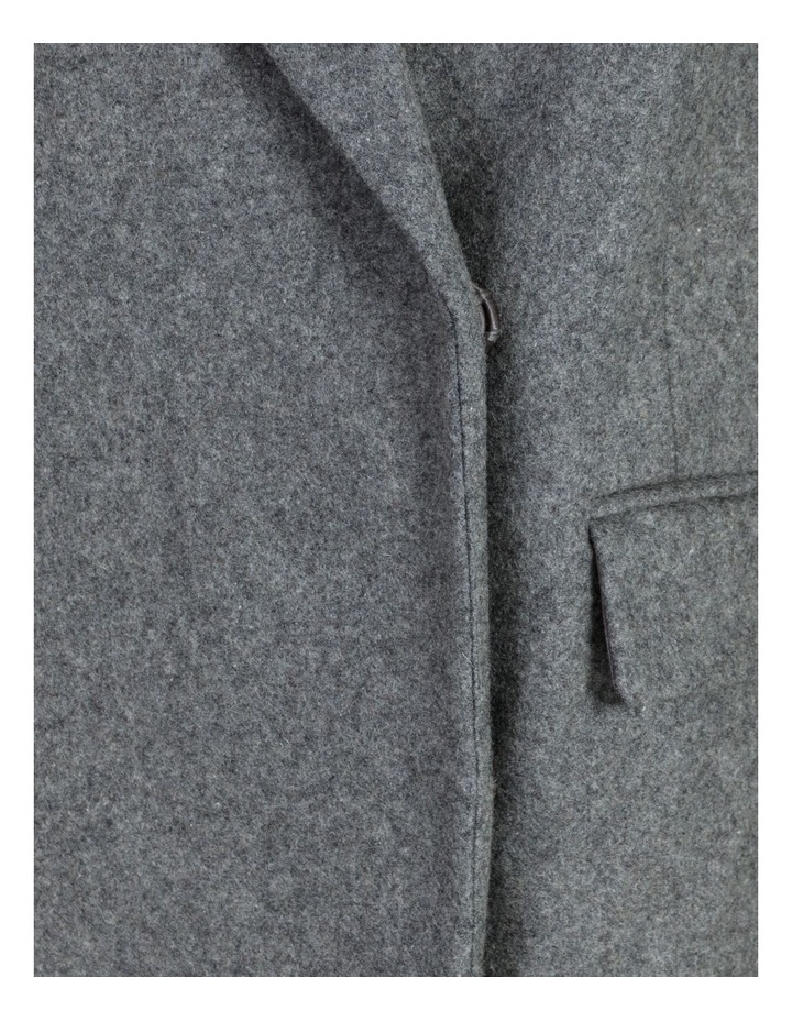 Fur Collar Coat Grey Marle image 7