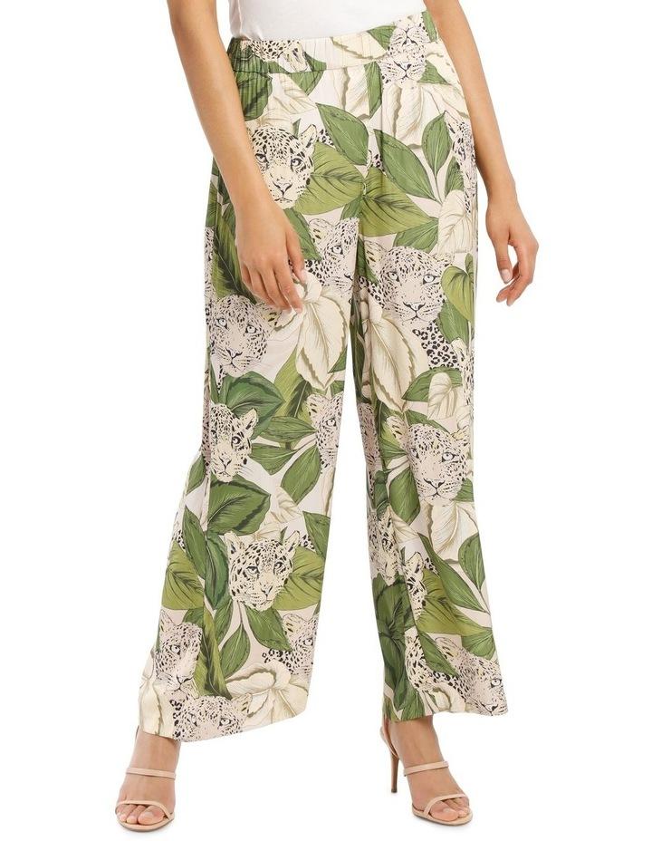 Wide Leg Leaf Leopard Printed Pant image 1