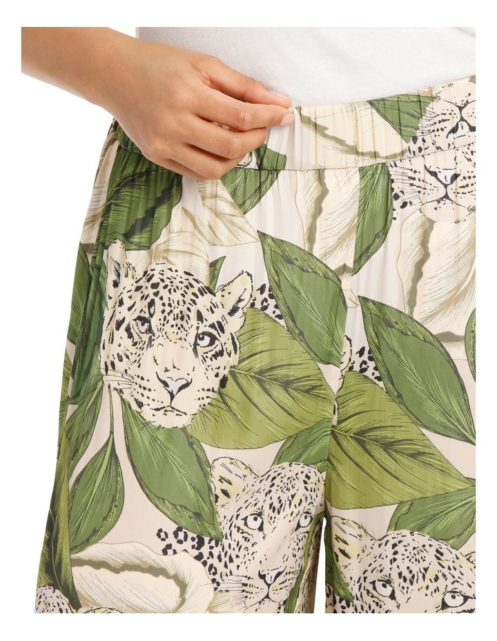 Wide Leg Leaf Leopard Printed Pant image 4