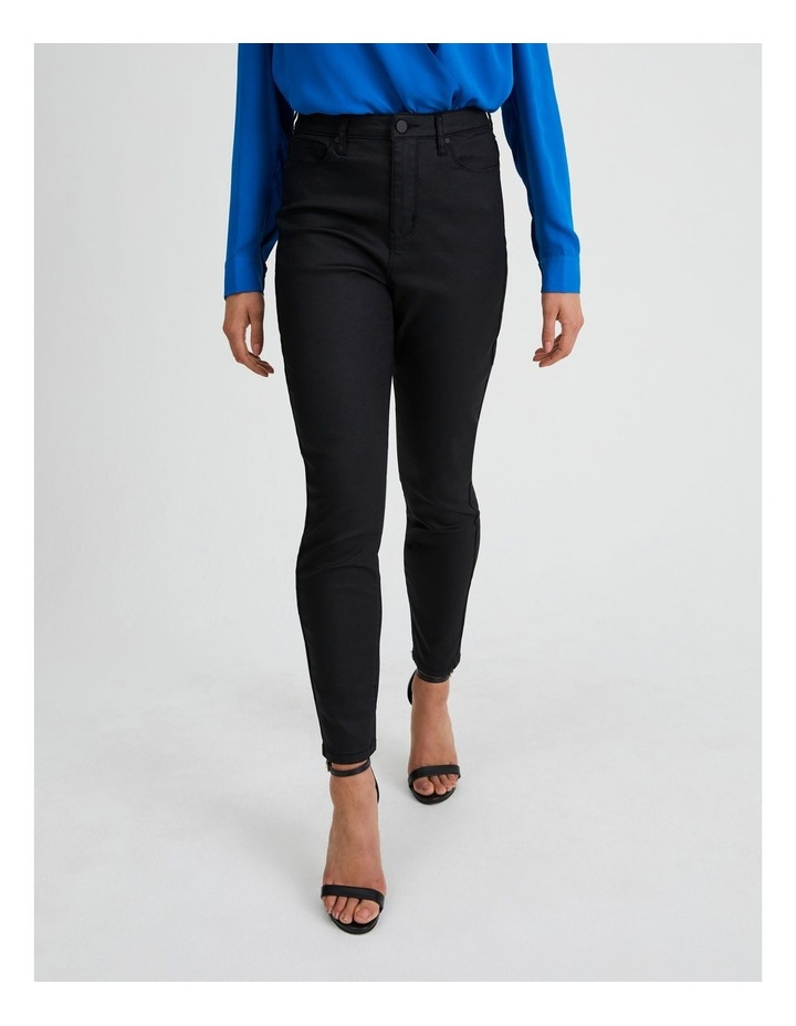 Coated Black Skinny Jean image 1