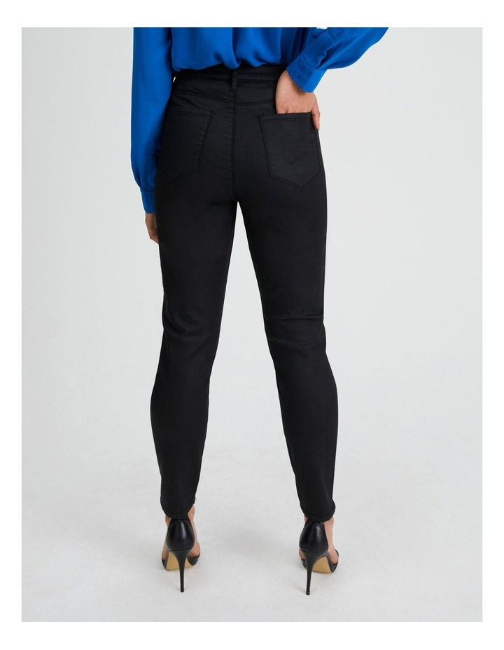Coated Black Skinny Jean image 3