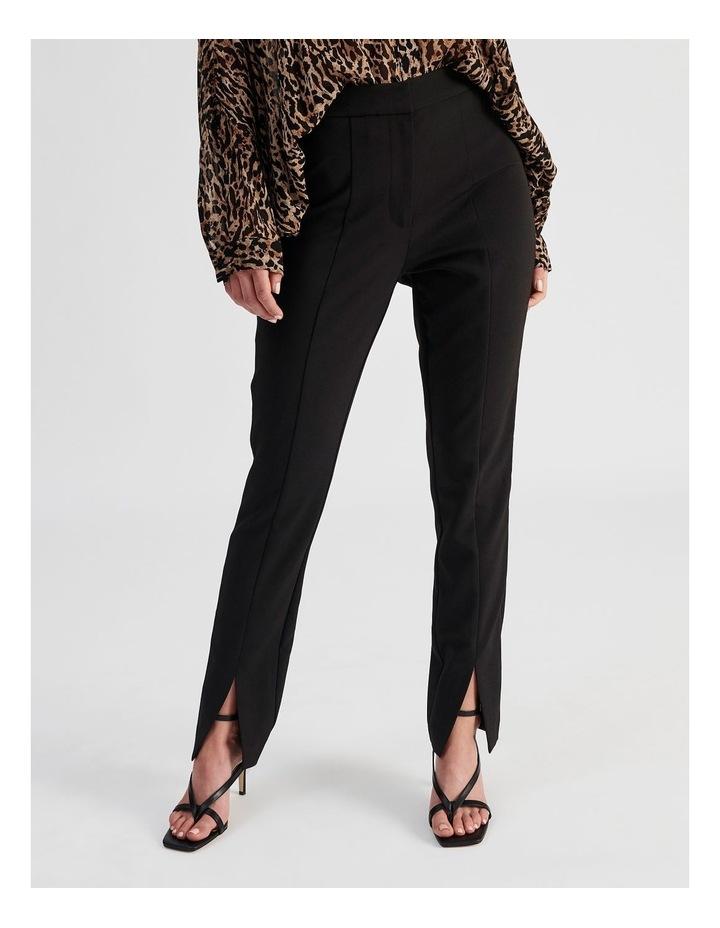 Split-Front Black Pant image 1