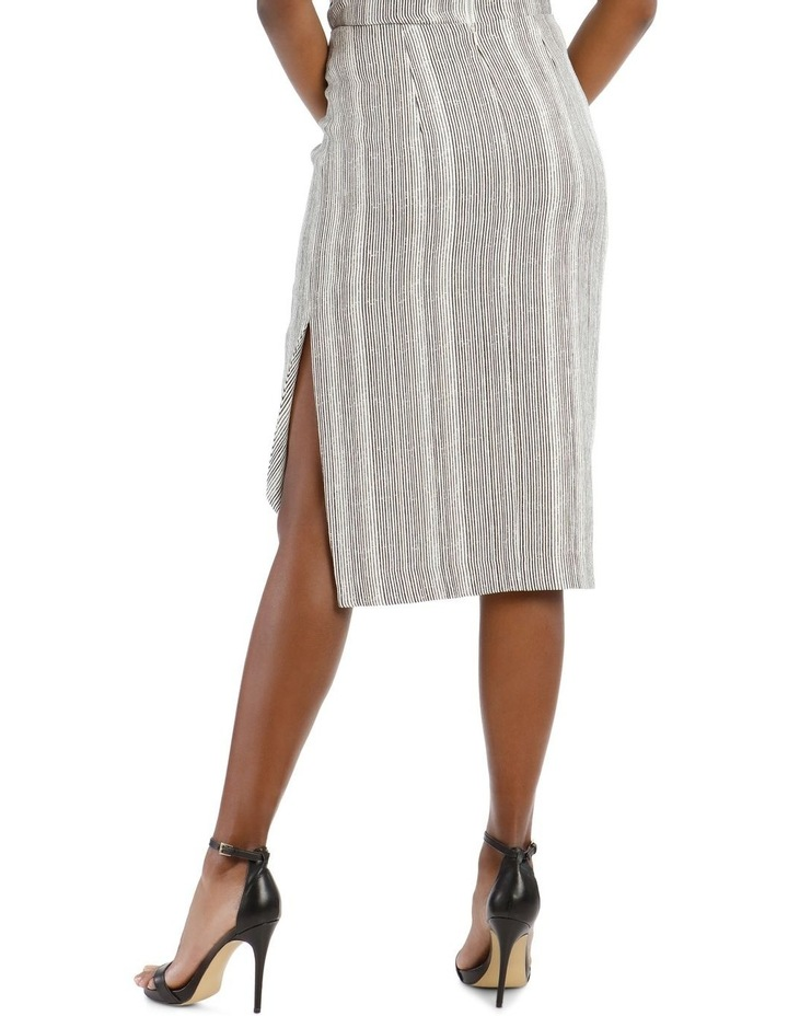 Asymmetrical Multi-Stripe Pencil Skirt image 3