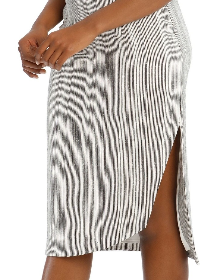 Asymmetrical Multi-Stripe Pencil Skirt image 4
