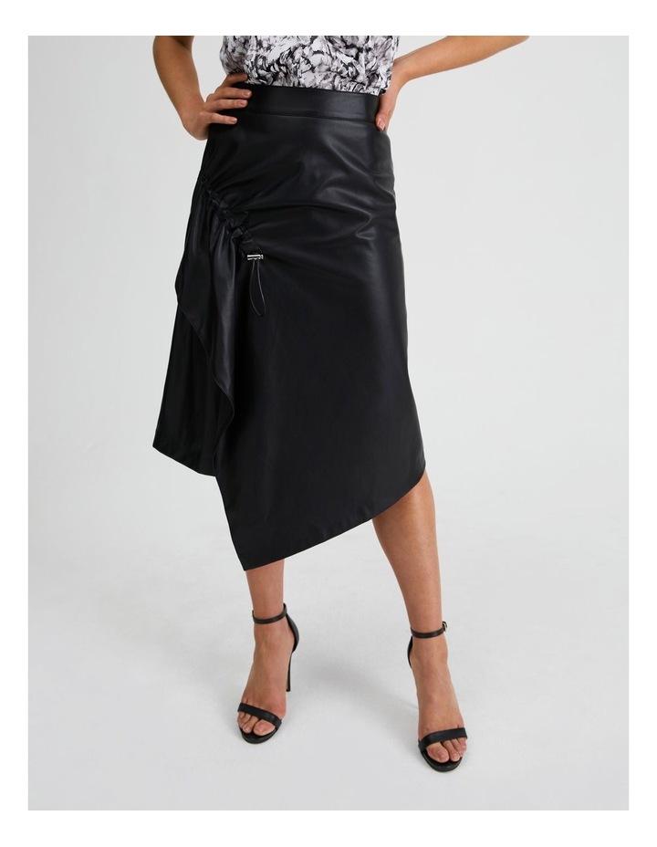 Vegan Leather Drawcord Skirt image 1