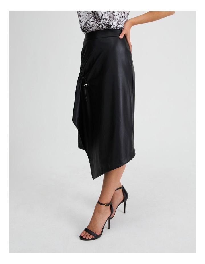 Vegan Leather Drawcord Skirt image 2