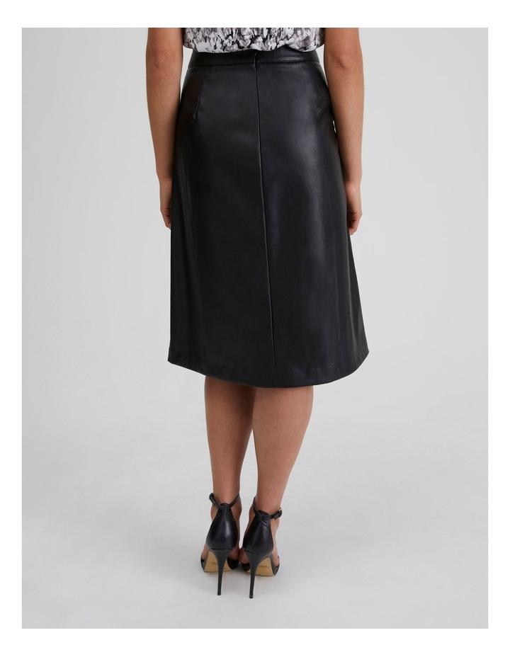 Vegan Leather Drawcord Skirt image 3