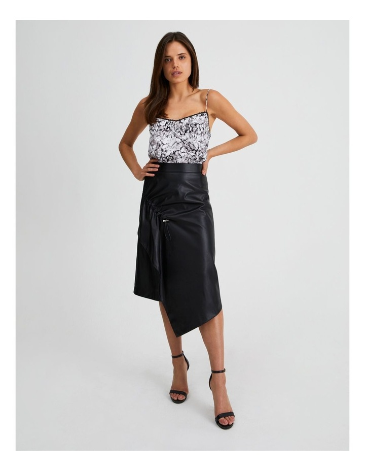 Vegan Leather Drawcord Skirt image 4