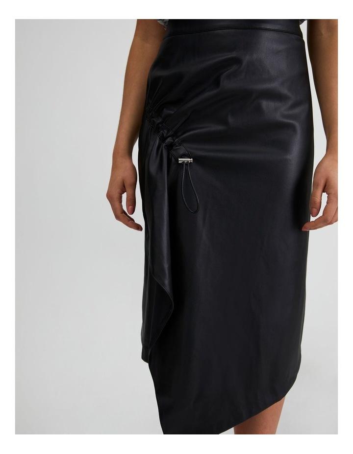 Vegan Leather Drawcord Skirt image 5