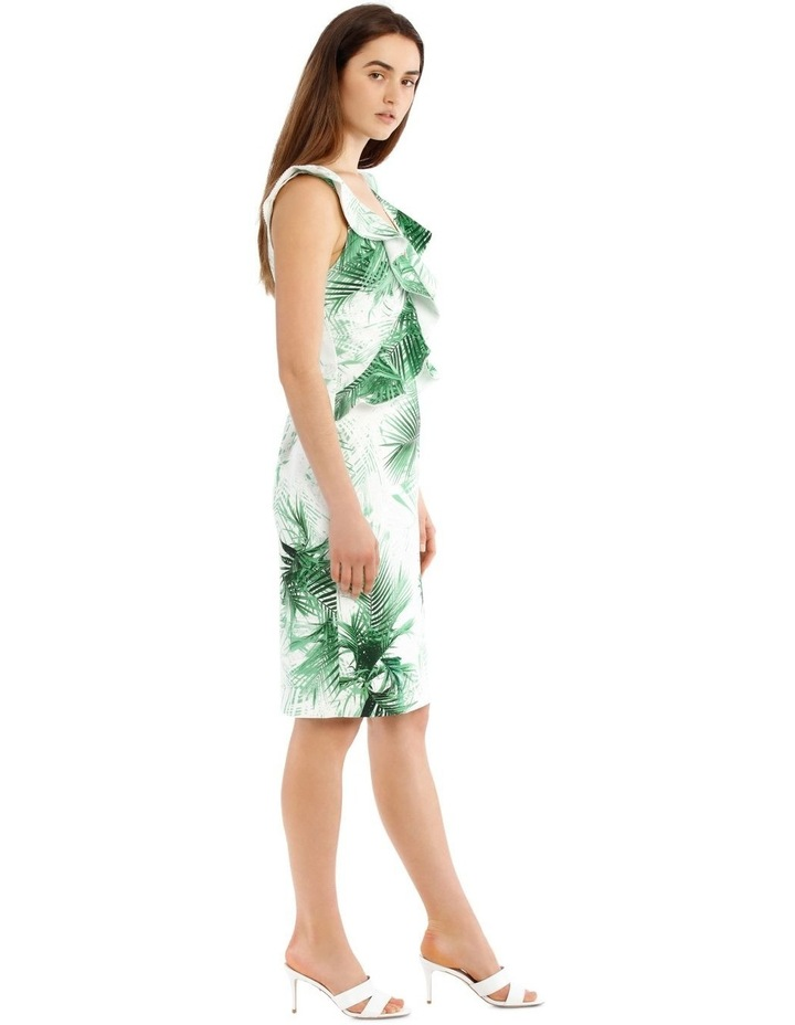 Bonded Crepe Dress With Lace Trim image 2